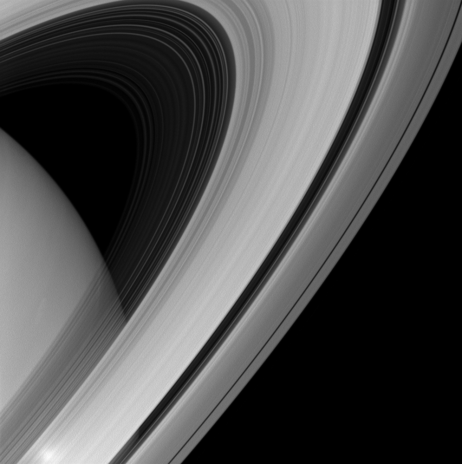 Saturn's rings appear to form a majestic arc over the planet in this image from NASA's Cassini spacecraft. Image Credit: NASA/JPL-Caltech/Space Science Institute