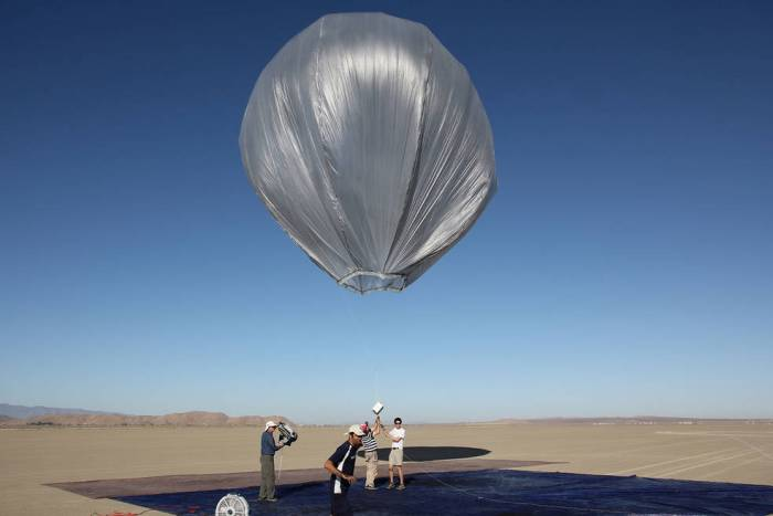 A team of JPL engineers tests whether a large balloon can measure earthquakes from the air