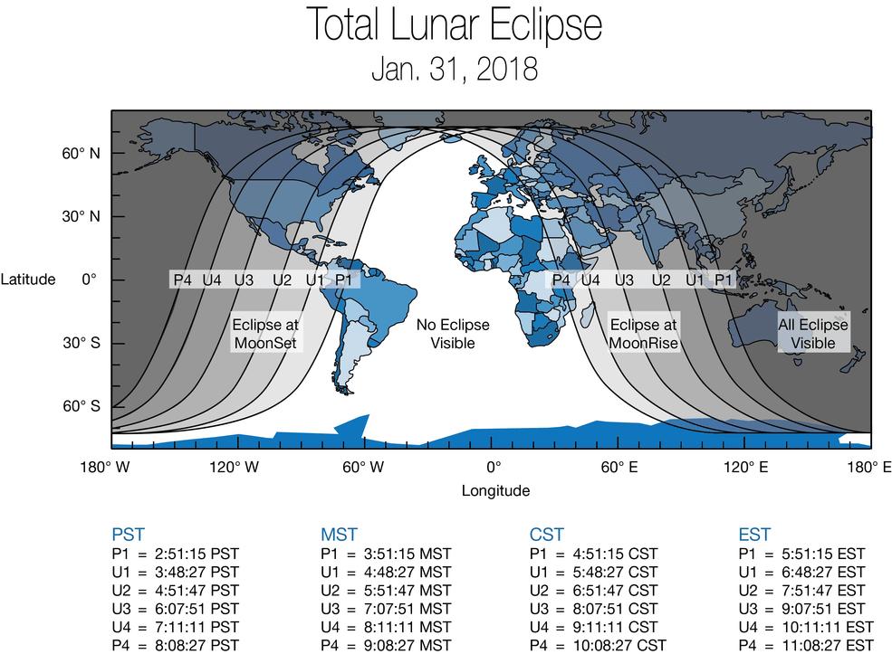 Total Lunar Eclipse - Jan. 31, 2018