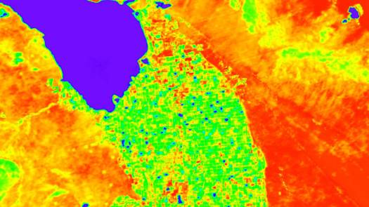 Eine Simulation von ECOSTRESS Landoberflächentemperaturdaten