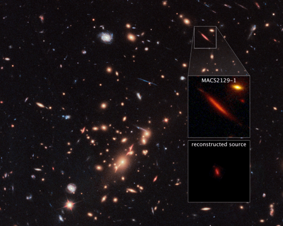 field of galaxies with inset enlargements