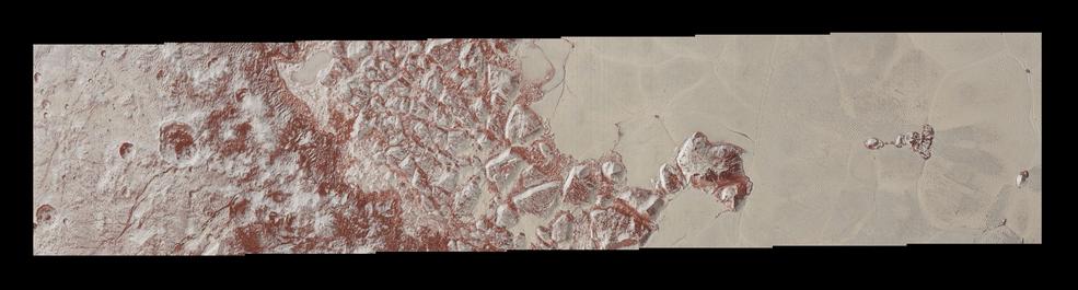 LORRI closeup image of Pluto