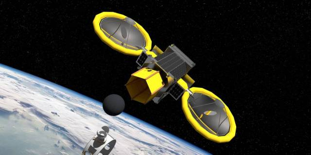 Illustration of the Mini Bee mission concept, a 2019 NIAC Phase III.