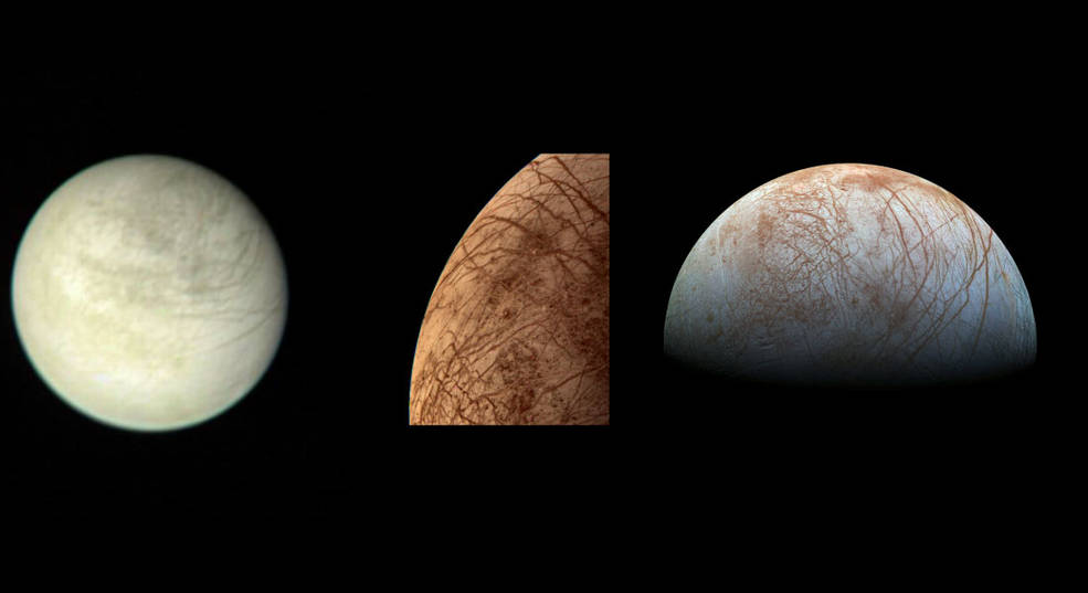 Images of Europa through time