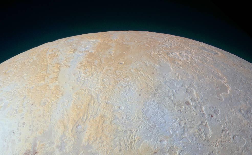 imagen de la región del polo norte de Pluton