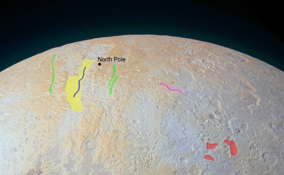 Polo Norte de Plutón. FOTO: NASA
