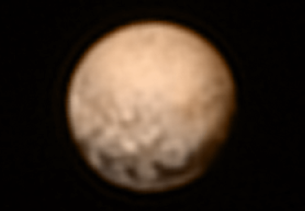 color image of Pluto