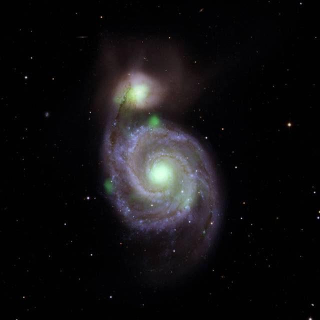 Bright green sources of high-energy X-ray light captured by NASA's NuSTAR mission