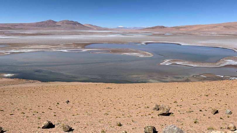 Imagem do lago no chile
