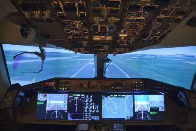View inside a cockpit