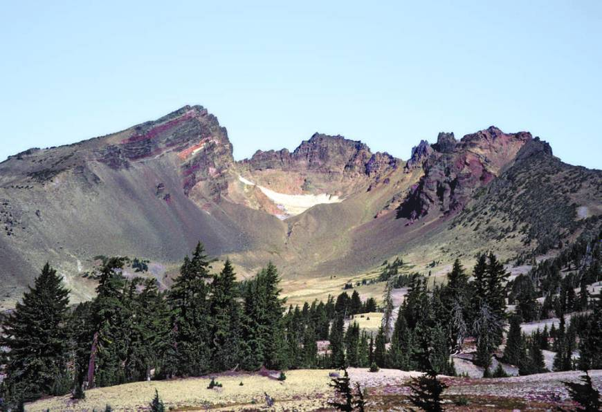 Three Sisters Volcano in Central Oregon. Credit: USGS