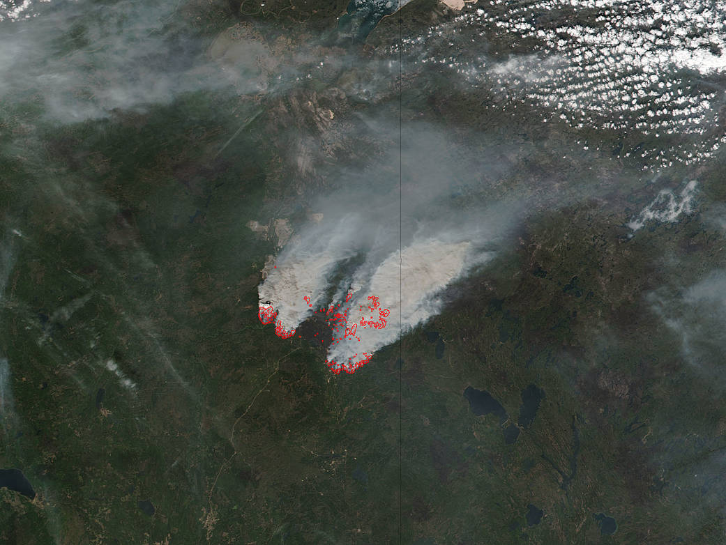 Fort McMurray fires and smoke