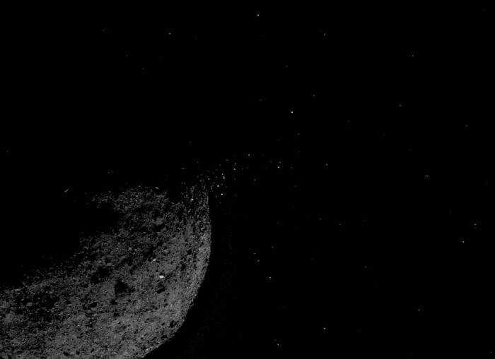 Particles ejected from Bennu