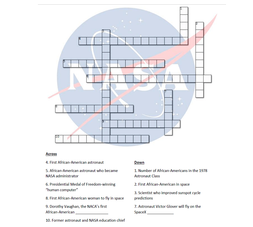 5th Grade Solar System Crossword Puzzle Answers