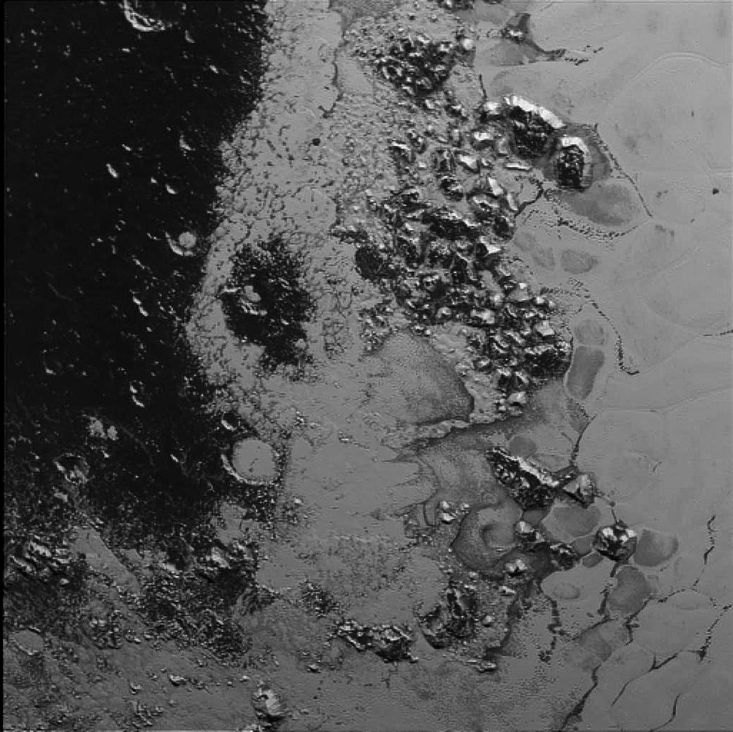 Pluto's mountain range