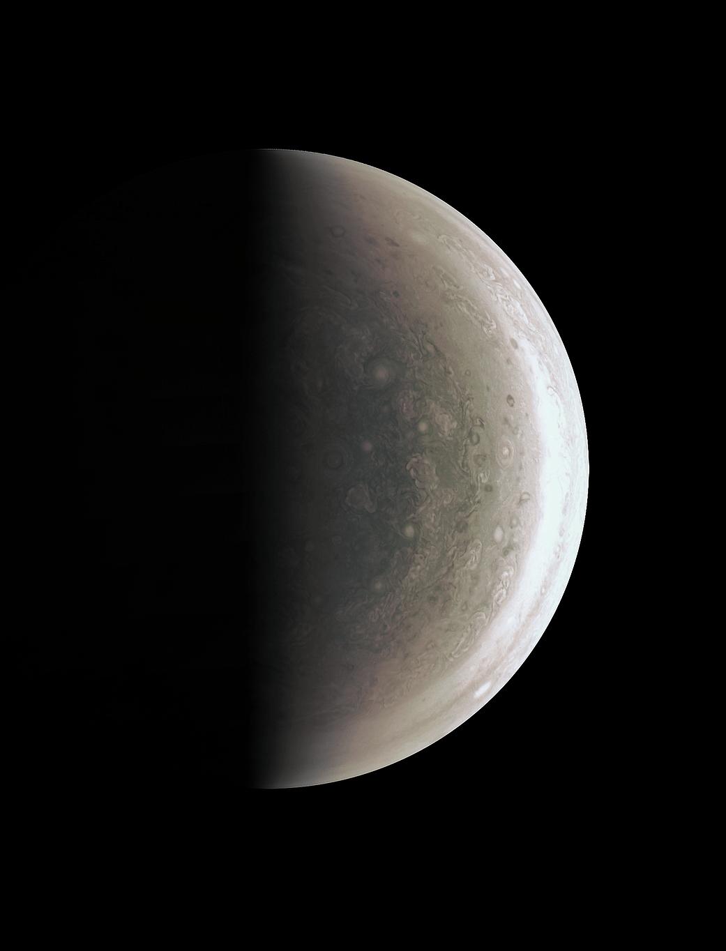 Jupiter's south polar region