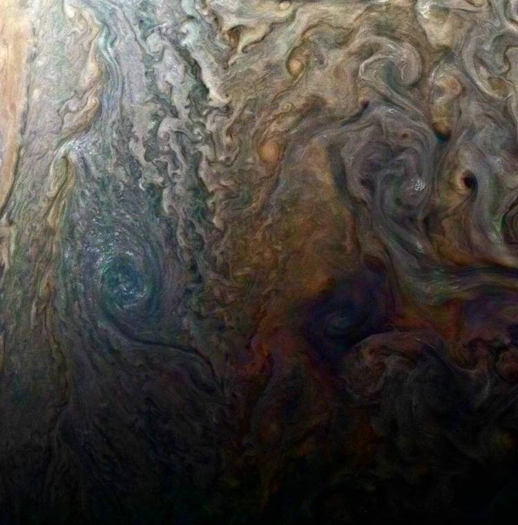 Dark Spot and Jovian 'Galaxy'