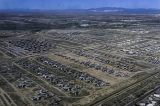 An aerial view of Davis-Mothan Air Force Base in Tuscon, Arizona.