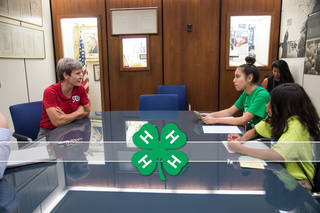 4-H students interview Peggy Whitson