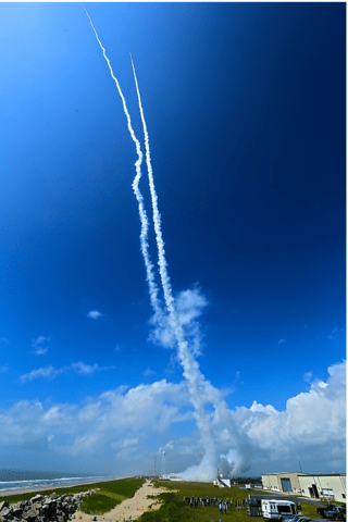 image of rocket launch from Wallops Flight Facility