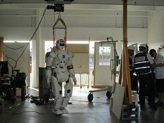 Valkyrie Robot in garage.