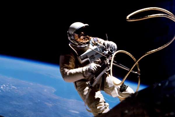 Gemini IV Astronaut Ed White floats in the microgravity of