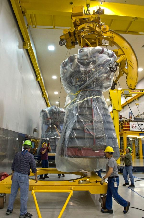 RS-25 Rocket Engine at Stennis Space Center   NASA