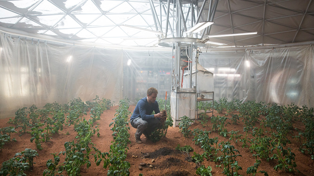 Potatoe scene from movie The Martian