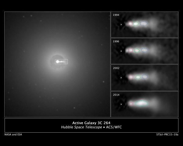 Hubble Sees Shock Collision Inside Black Hole Jet NASA
