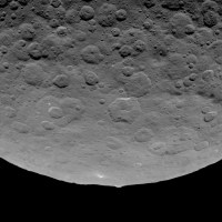 Bright spots and pyramid on Ceres