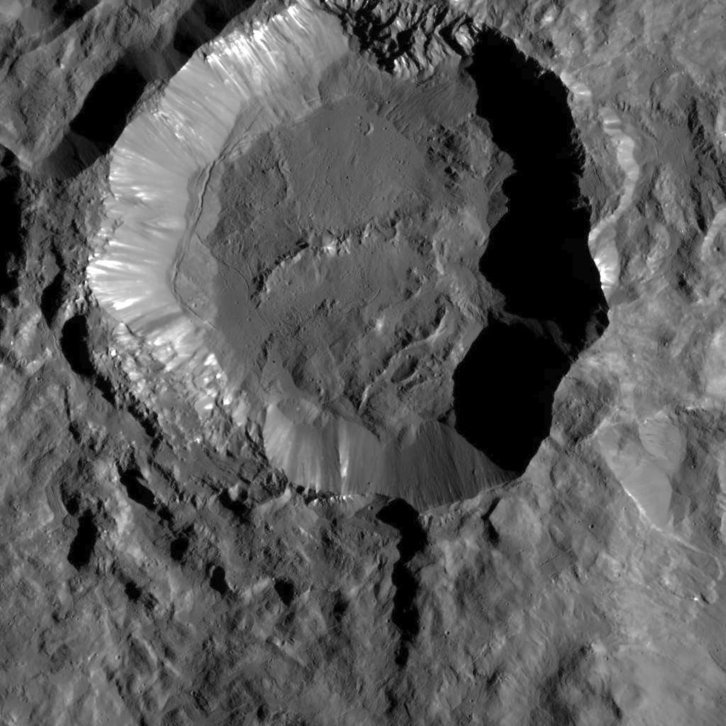 Kupalo Crater on Ceres. pia20192