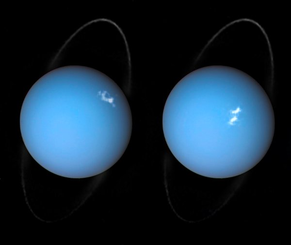 Hubble Spots Auroras on Uranus NASA