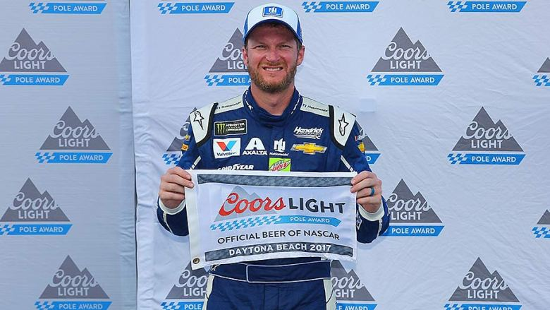 Dale Earnhardt Jr. wins Coors Light Pole Award at Daytona