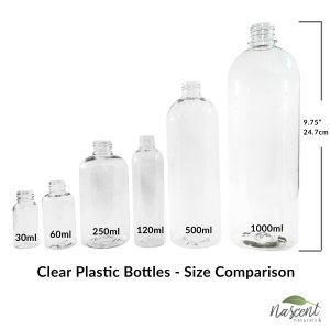 Bottles - Plastic - Clear