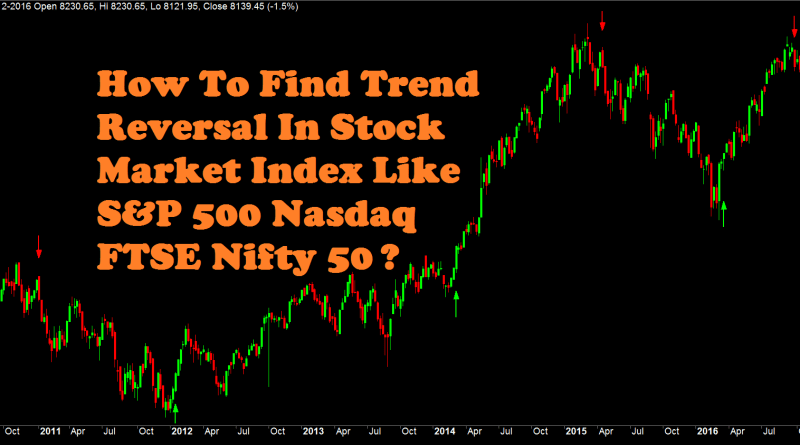 How To Find Trend Reversal In Stock Market Index Like S&P 500, Nasdaq, FTSE, Nifty 50