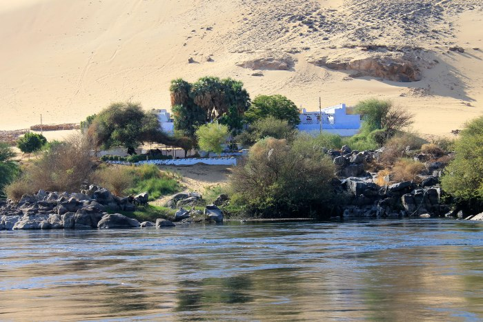 Nubian Village by Felucca