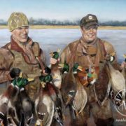 """Pastel Painting """"The Duck Hunt"""""""