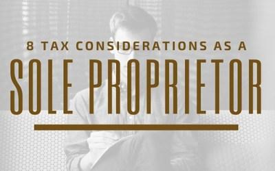 8 Tax Considerations as a Sole Proprietorship