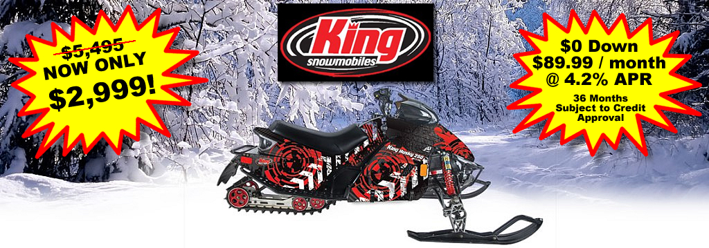 King Husky 250 Snowmobile