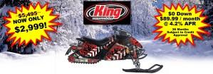 King Husky 250 Snowmobile