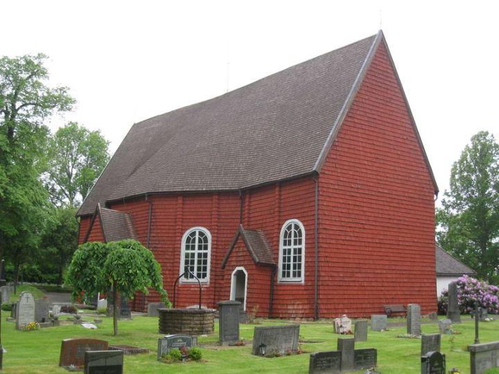 Näshults kyrka från sydost