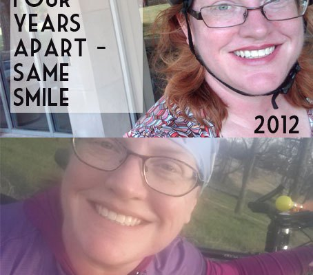 Same smile, four years apart.