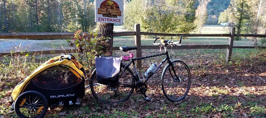Entrance to the Chief Ladiga Trail Campground in the Talladega National Forest.