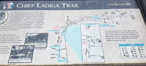 Map of the Chief Ladiga Trail along the path in Jacksonville, AL.