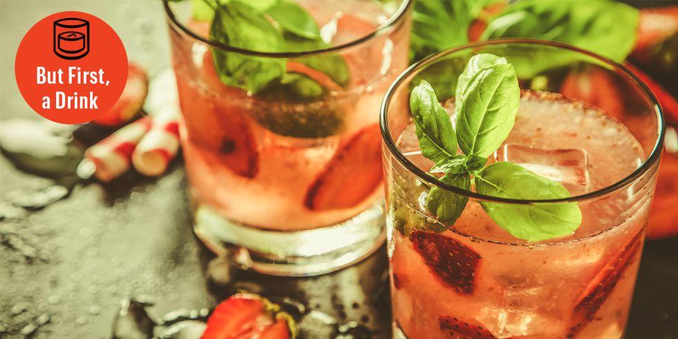 Strawberry Bourbon Labor Day Lemonade