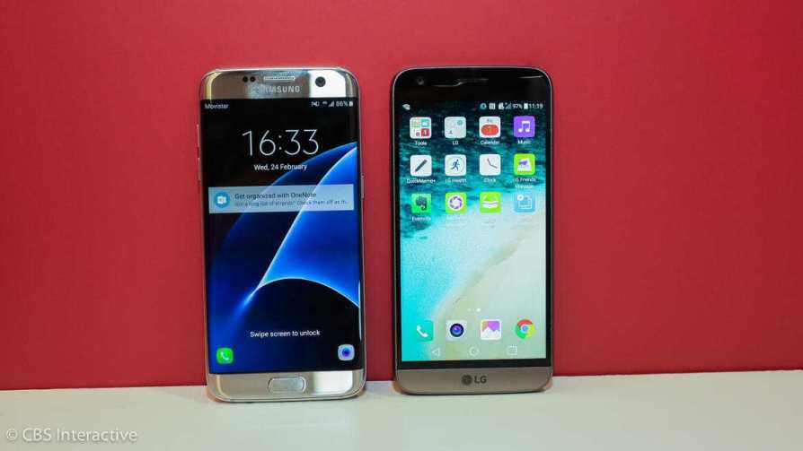 Samsung Galaxy S7 Edge vs LG G5