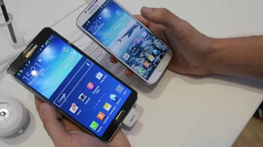 Samsung Galaxy S4 and Samsung Galaxy Note 3