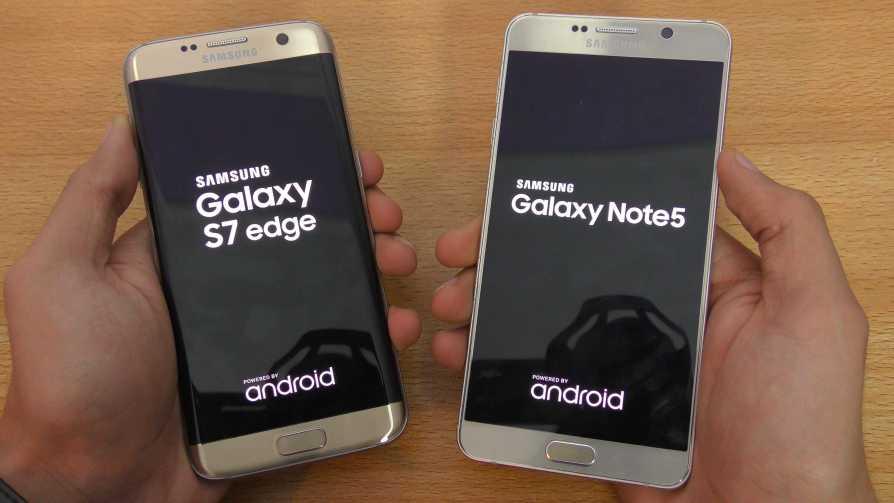 Samsung Galaxy Note 5 vs Galaxy S7 Edge