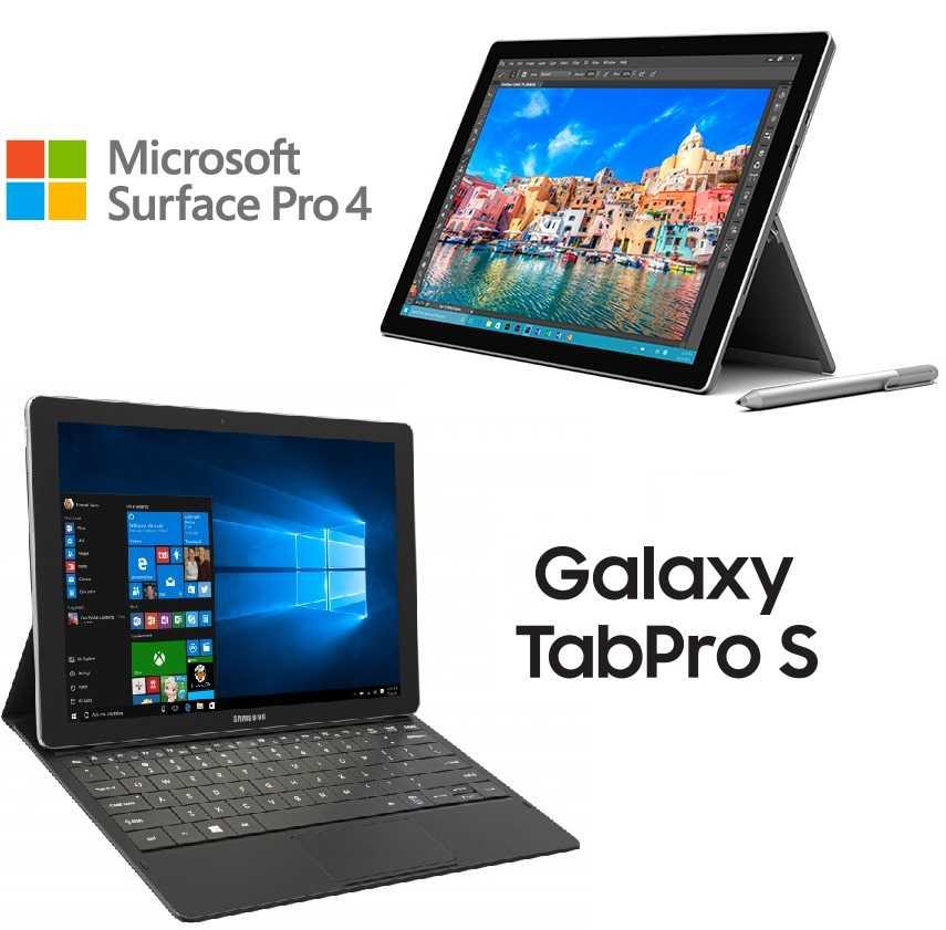 Microsoft Surface Pro 4 and Samsung Galaxy TabPro S