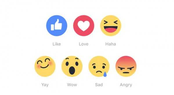 Facebook Reactions icons